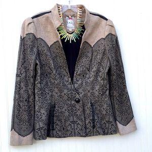 Yoana Baraschi blazer jacket romantic lace pattern
